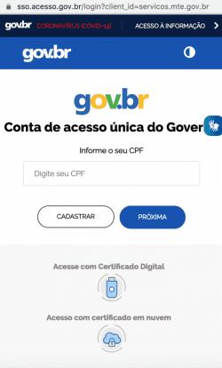 login_site_ministerio_economia_coronavirus