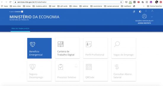 site_ministerio_economia_logado_coronavirus