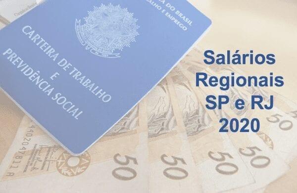 Salário Mínimo SP e RJ sem reajuste 2020